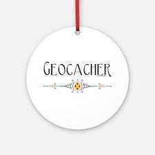 Geocacher Ornament (Round)