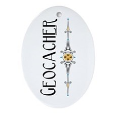 Geocacher Oval Ornament