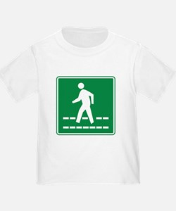 Pedestrian Crossing Sign T