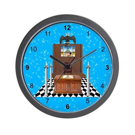 Masonic Blue Lodge Wall Clock