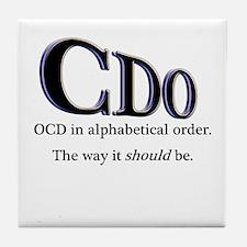 OCD Disorder in Order Tile Coaster