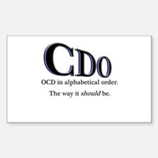 OCD Disorder in Order Rectangle Decal