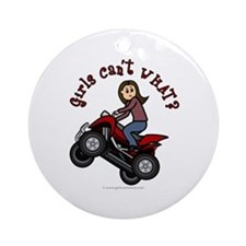 Light Skin ATV/Four-Wheeling Ornament (Round)