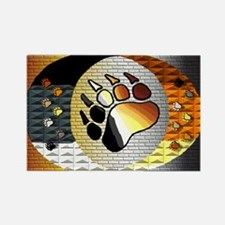 BEAR PRIDE BEAR PAW AND MORE Rectangle Magnet