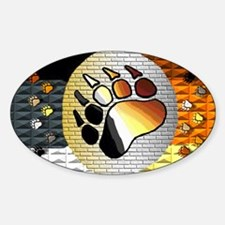 BEAR PRIDE BEAR PAW AND MORE Oval Decal