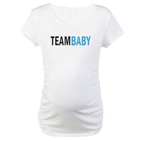 Team Baby - Blue Maternity T-Shirt