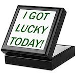 I Got Lucky Today Keepsake Box