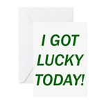 I Got Lucky Today Greeting Cards (Pk of 20)