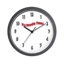 It's Doodle Time Labradoodle Wall Clock