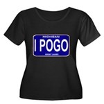 I Pogo Women's Plus Size Scoop Neck Dark T-Shirt