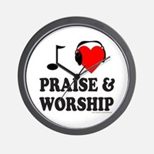 I HEART PRAISE & WORSHIP Wall Clock