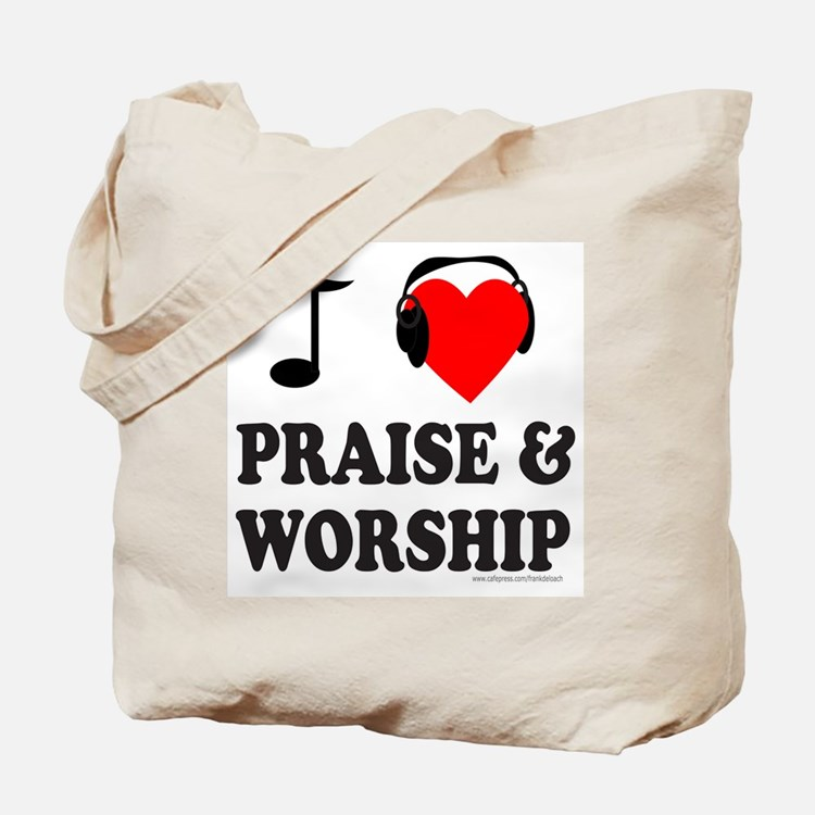 I HEART PRAISE & WORSHIP Tote Bag