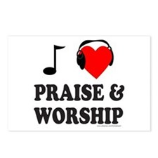 I HEART PRAISE & WORSHIP Postcards (Package of 8)