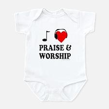 I HEART PRAISE & WORSHIP Infant Bodysuit