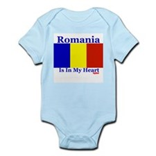 Romania - Heart Infant Bodysuit