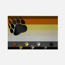 PAWS-BEAR PRIDE FLAG Rectangle Magnet