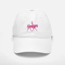 Pink Cowgirl w/ Text Baseball Baseball Cap