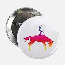 "Rainbow Cowgirl 2.25"" Button"