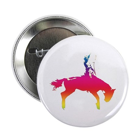 "Rainbow Cowgirl 2.25"" Button (10 pack)"
