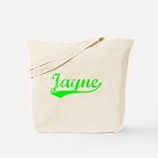 Vintage Jayne (Green) Tote Bag