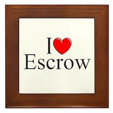 """""""I Love (Heart) Escrow"""" Framed Tile"""
