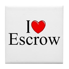 """I Love (Heart) Escrow"" Tile Coaster"
