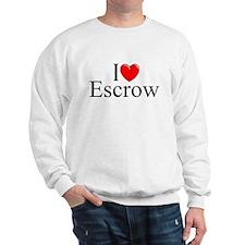 """I Love (Heart) Escrow"" Sweatshirt"