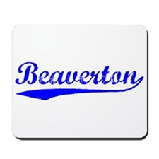 Vintage Beaverton (Blue) Mousepad