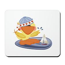 Splashing Baby Boy Ducky & Boat Mousepad