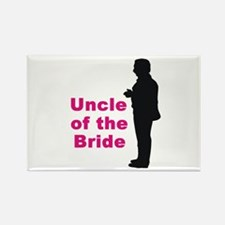 Silhouette Uncle of the Bride Rectangle Magnet