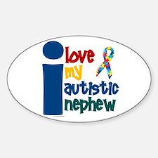 I Love My Autistic Nephew 1 Oval Decal