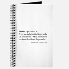 Humorous Pianist Definition Journal
