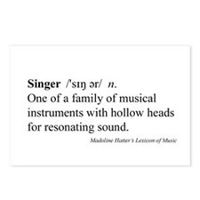 Humorous Singer Definition Postcards (Package of 8