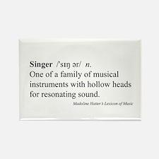 Humorous Singer Definition Rectangle Magnet