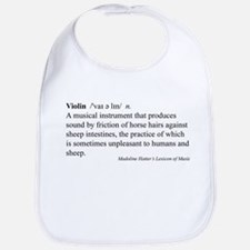 Humorous Violin Definition Bib