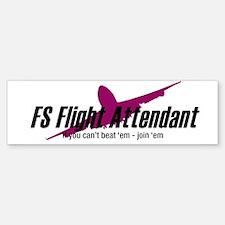 FS Flight Attendant - Join 'e Bumper Bumper Bumper Sticker