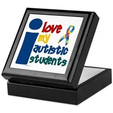 I Love My Autistic Students 1 Keepsake Box