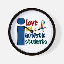I Love My Autistic Students 1 Wall Clock
