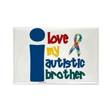 I Love My Autistic Brother 1 Rectangle Magnet
