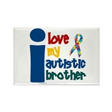 I Love My Autistic Brother 1 Rectangle Magnet (100