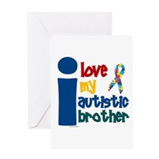 I Love My Autistic Brother 1 Greeting Card