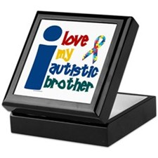 I Love My Autistic Brother 1 Keepsake Box
