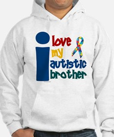 I Love My Autistic Brother 1 Hoodie