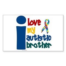 I Love My Autistic Brother 1 Rectangle Bumper Stickers
