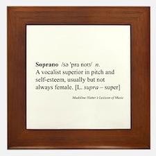 Humorous Soprano Definition Framed Tile