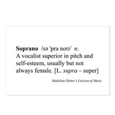 Humorous Soprano Definition Postcards (8pk)