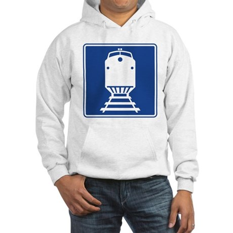 Train Sign Hooded Sweatshirt