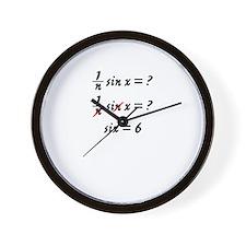 Six = 6 Wall Clock