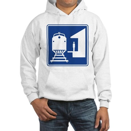 Train Station Sign Hooded Sweatshirt