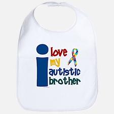 I Love My Autistic Brother 1 Bib